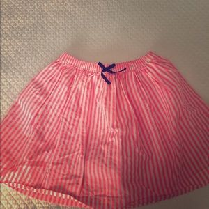 Oshkosh bright striped girls skirt